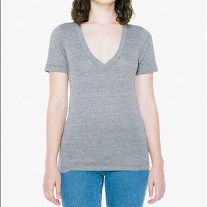american apparel summer shirt v neck